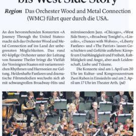 Vom Wilden Westen bis West Side Story: heute nochmals in Arth